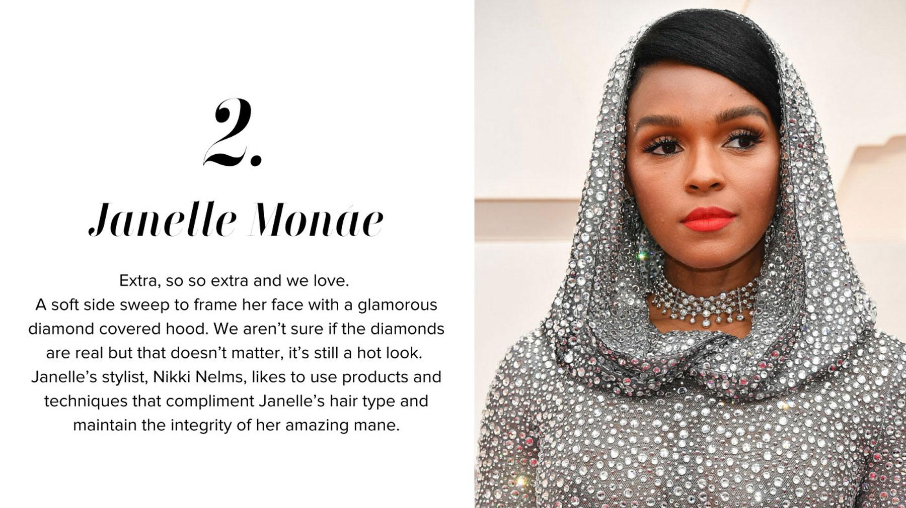 Janelle Monae - Oscars Hairstyle