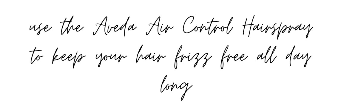 Aveda Aircontrol Hairspray - be frizz free