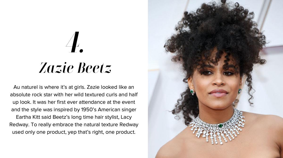 Zazie Beetz - Oscars Hairstyle