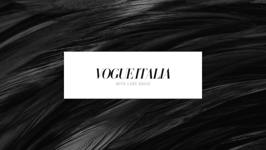 Vogue Italia with Luke