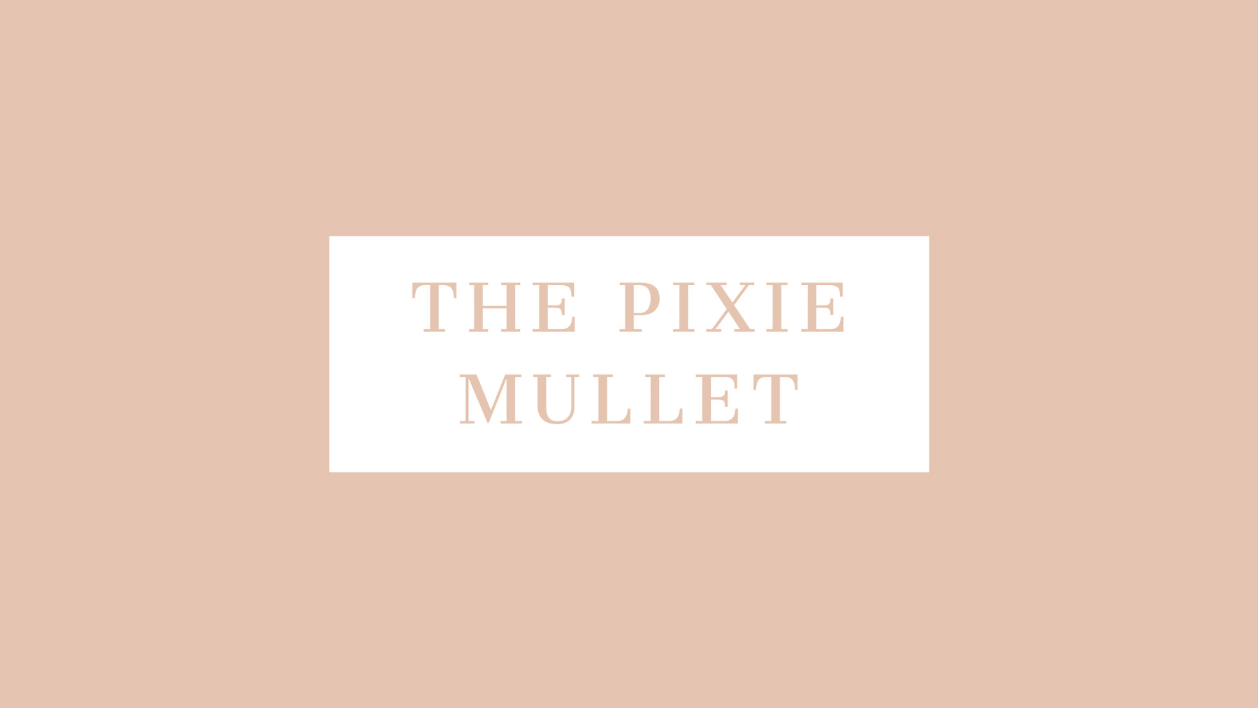 The Pixie Mullet