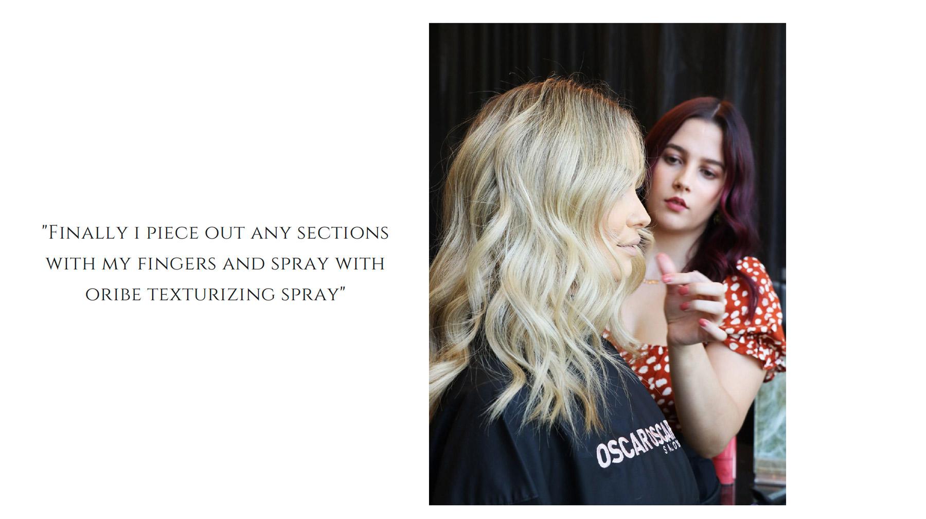 Spray with Oribe Texturizing Spray