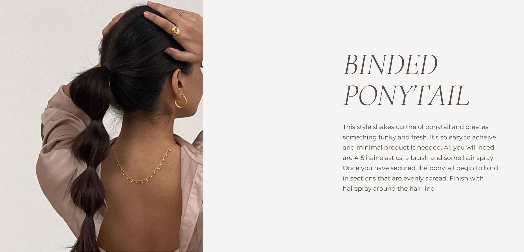 Binded Ponytail