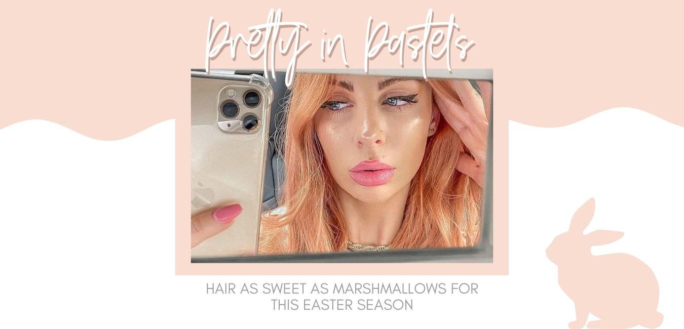 peach hair style