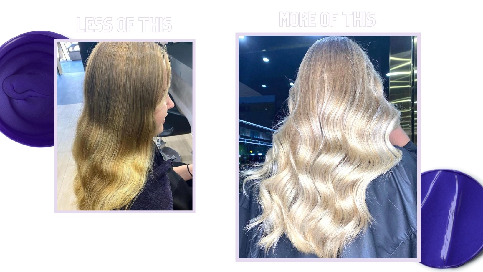 blonde before and after