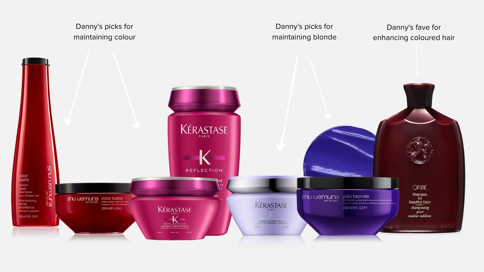 hair products to maintain hair colour