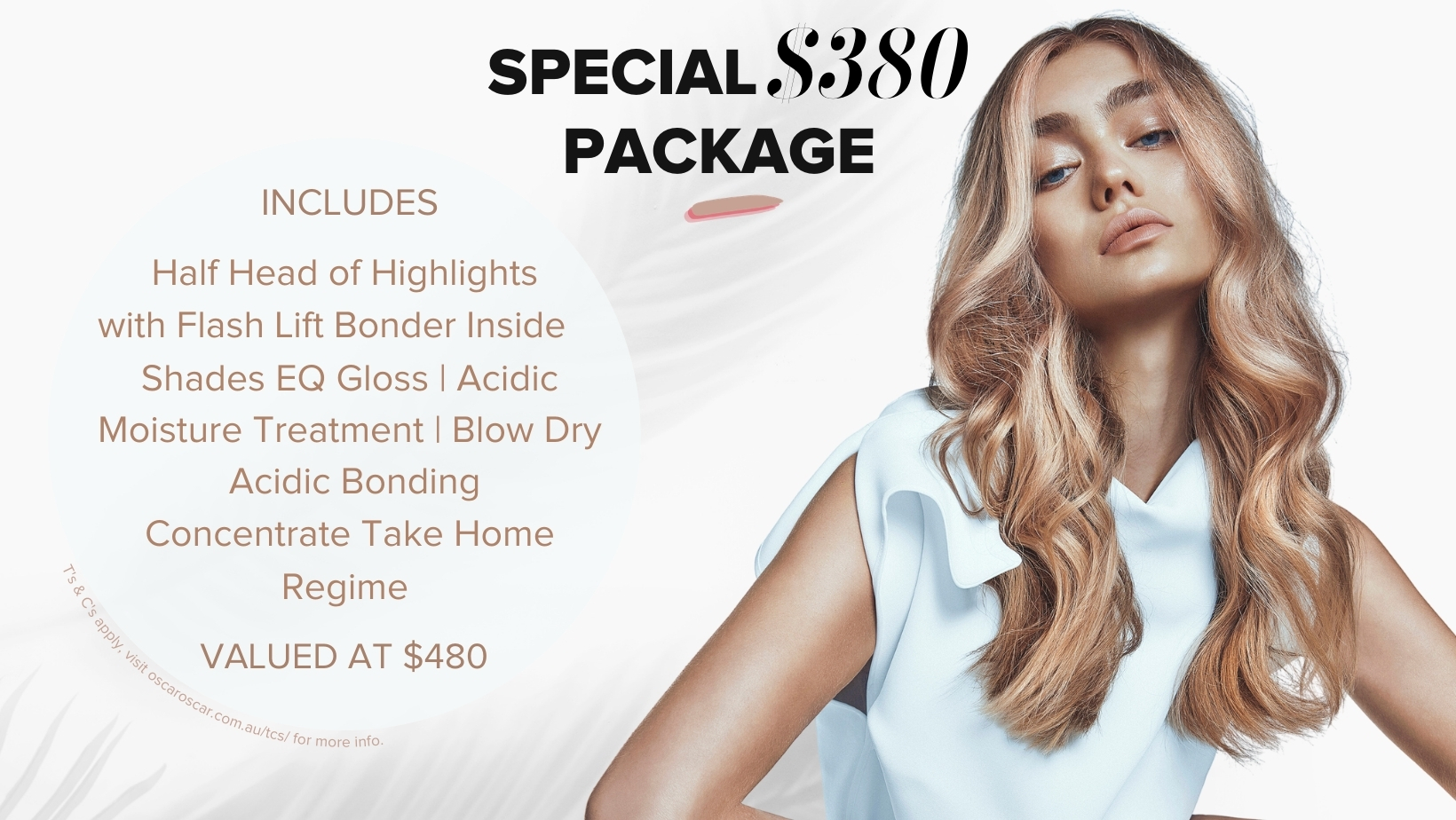 blonde hair promotion special offer