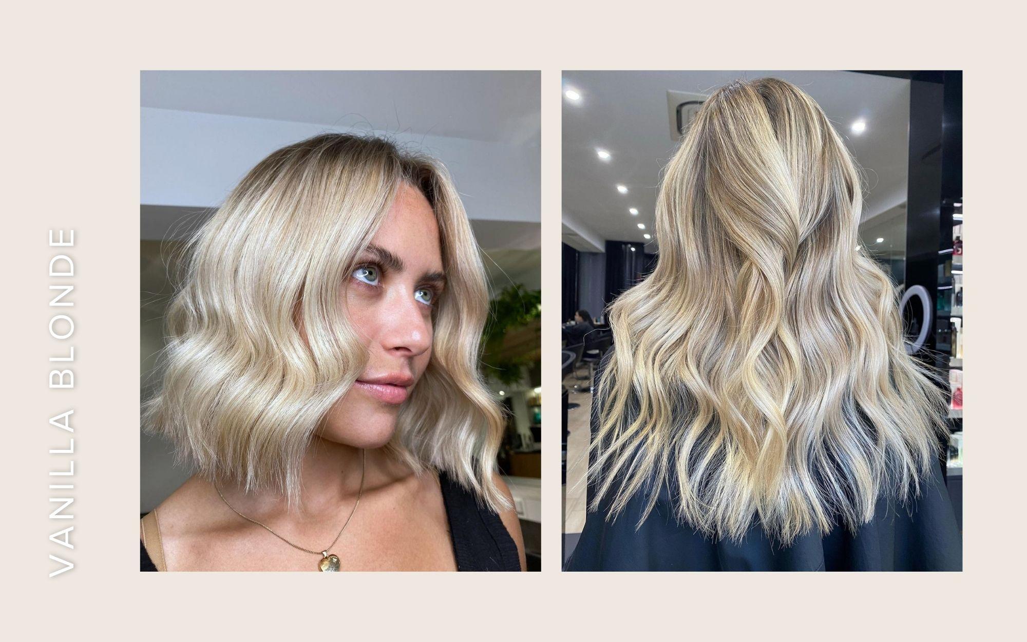 vanilla blonde hair