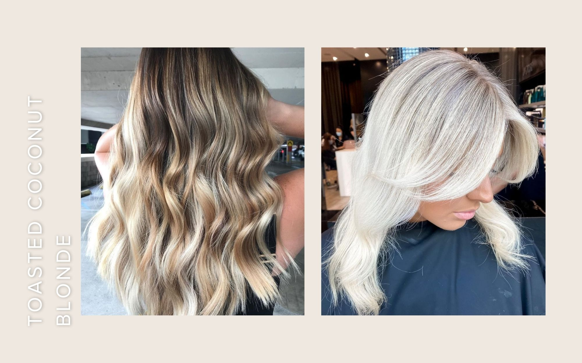 toasted coconut blonde hair